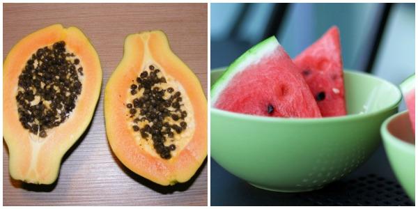 Homemade beauty tips for fairness papaya watermelon